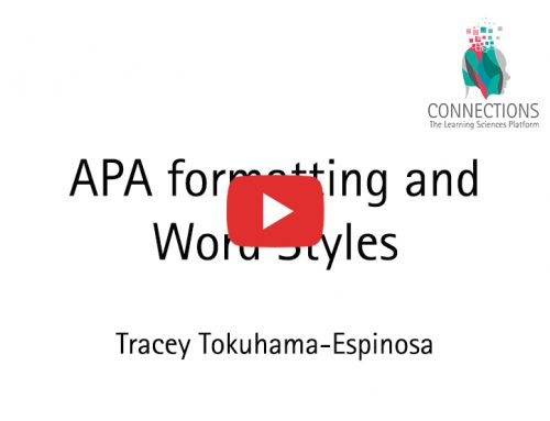 APA formatting and Word Styles