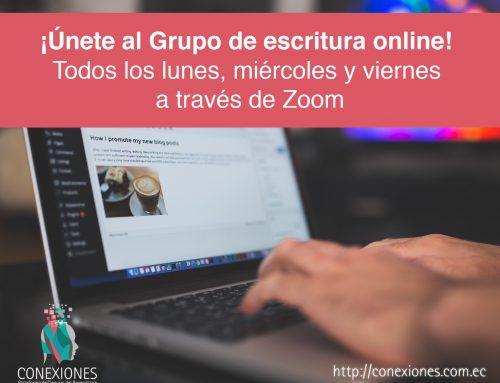 ÚNETE al Grupo de escritura en línea