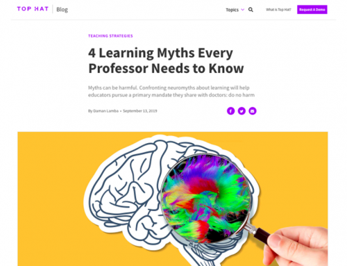 4 Learning Myths Every Professor Needs to Know. Interview to Tracey Tokuhama-Espinosa
