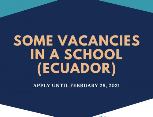 Vacancies in a School in Ecuador